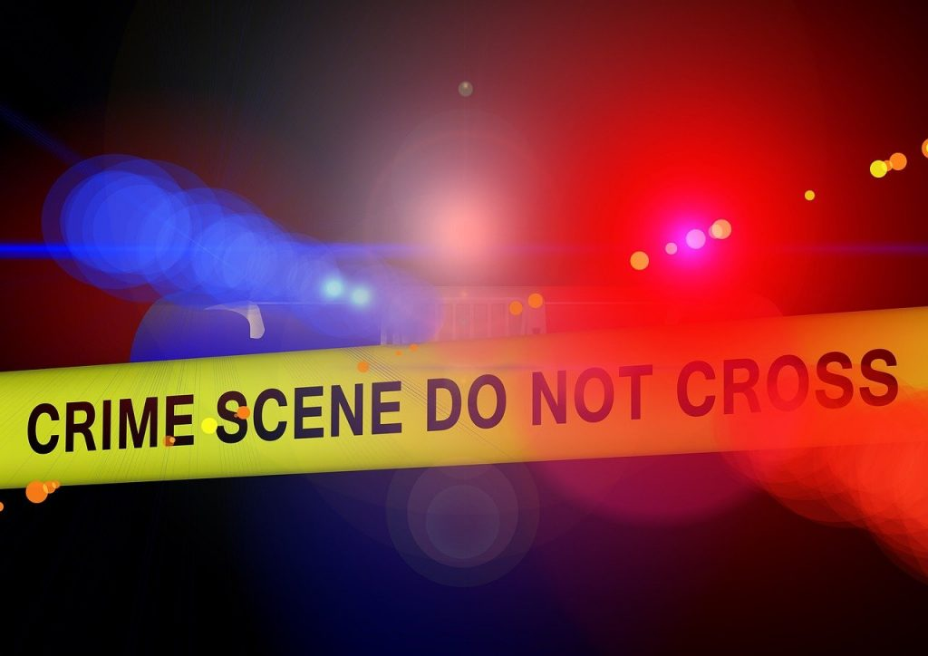 police, crime scene, blue light